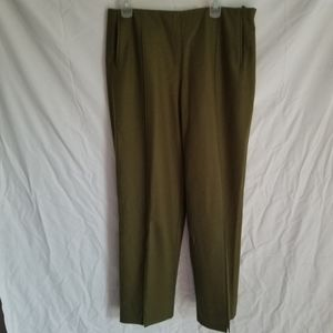 Green wool professional suit work pants